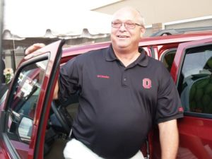 Blood donor Daniel Lange of St. Henry wins new Jeep Patriot!