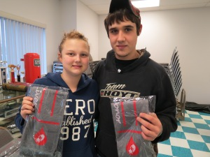 Donors Samantha Anderson & Anthony Brannon.