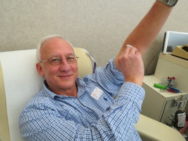 Jack Magoteaux completes his 190th lifetime blood donation
