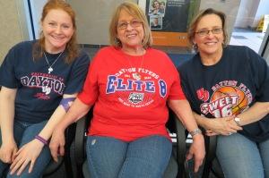 Family, Friends & Flyer Fans! Bob Rosencrans' daughter Megan, sister Joan Buckner & good friend Teri Murphy