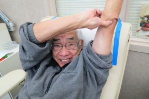 Blood donor George Kawanishi