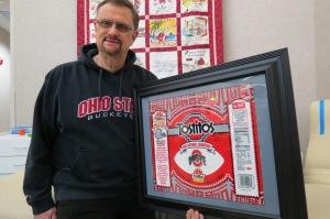 Buckeye memorabilia winner Tom Schmid from Beavercreek, OH.