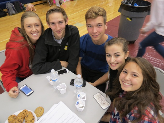 Volunteers Shelby Summers, Ronald Mahan, Ryan Slauglenhaupt, Anna Skudlarek, Kaela James - Copy