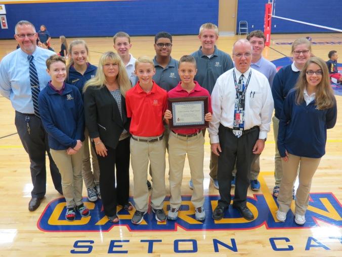Seton Catholic High School Blood Drive Award