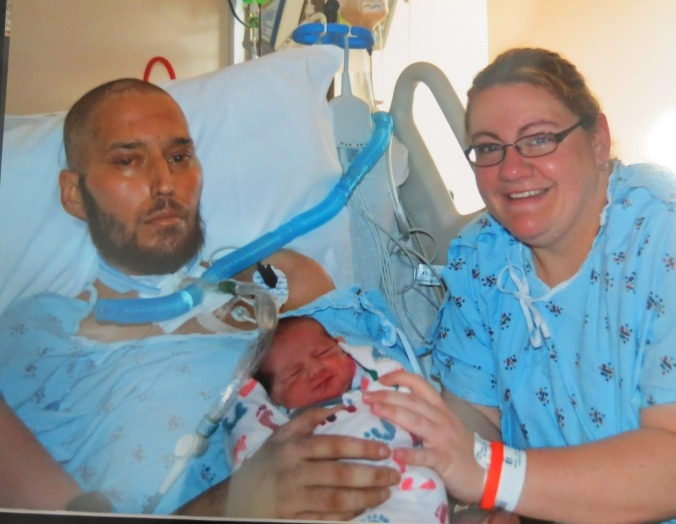 Vincent, Mindy Jones with newborn son Jeremiah