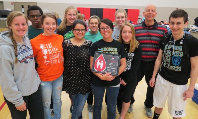 Wayne High School Blood Drive Award
