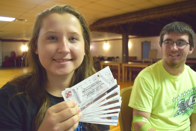 Hayley Solinski with Eldora tickets