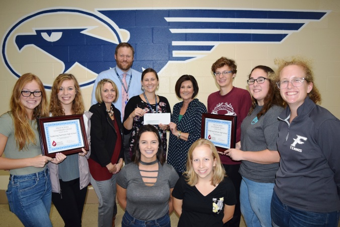 Fairmont High School Blood Drive Award