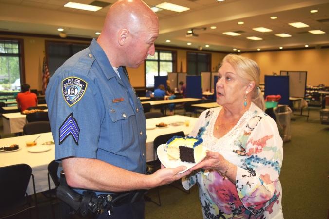 Paula Kalaman with Sgt. Mike Yoder