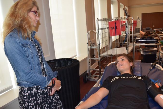 Donor Annika Shaffer with Renate Crawford