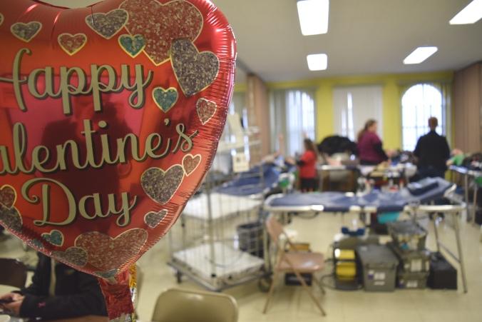 St. Valentine's Day blood drive